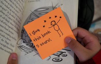Classroom Libraries Sticky Note