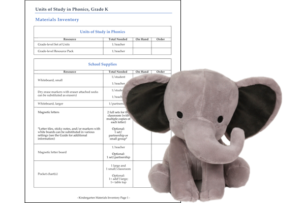 Units of Study for Teaching Phonics Grades K-2