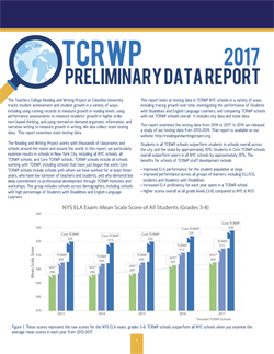 TCRWP Efficacy Data Report: NY 2014–2017