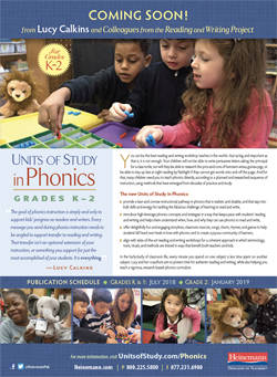 Units of Study in Phonics Flyer