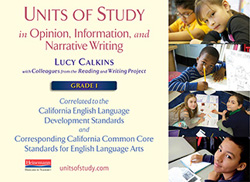 CA ELD and CCSS Alignment for Writing Units, Grade 1