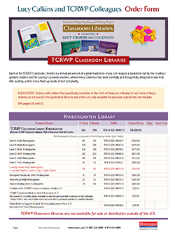 Order Form: TCRWP Classroom Libraries
