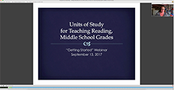 Middle School Reading Webinar