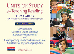 CA ELD and CCSS Alignment for Reading Units, Grade K