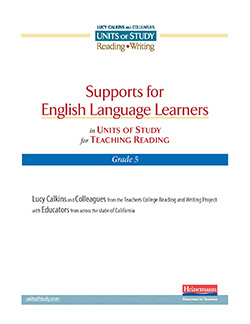 Support for CA English Learners in the Reading Units, Grade 5