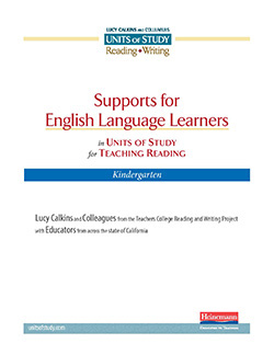 Support for CA English Learners in the Reading Units, Grade K